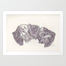 BALLPEN ELEPHANT 9 Art Print