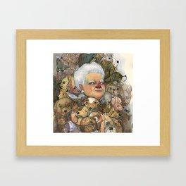 Miss Puppy Framed Art Print