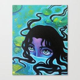 Pond Girl Canvas Print