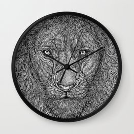 The Lion King of the Jungle by Kent Chua Wall Clock