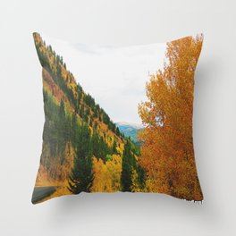 Firey Fall Throw Pillow