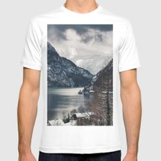 Winter Landscape #photography #sky Mens Fitted Tee MEDIUM White