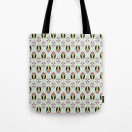 Art Deco Floral Pattern Tote Bag