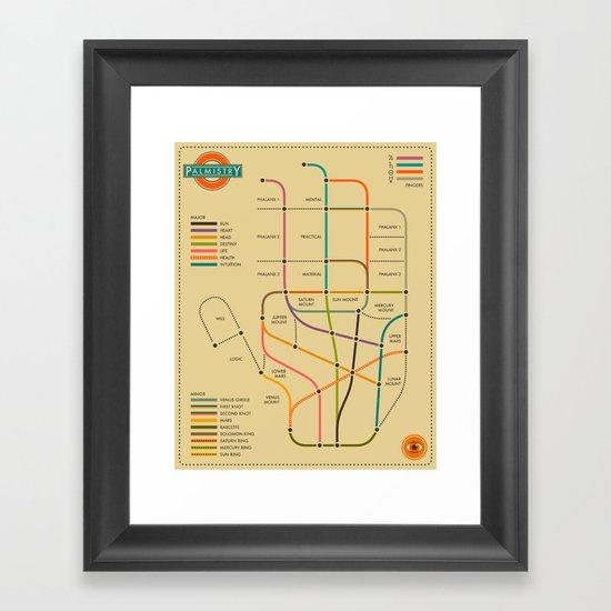 PALMISTRY - Subway Style Framed Art Print