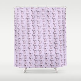 Espeon Pattern Shower Curtain