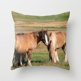 Gypsy Vanner Horses 0271 - Colorado Throw Pillow