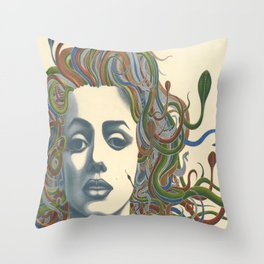Medusa Monroe  Throw Pillow