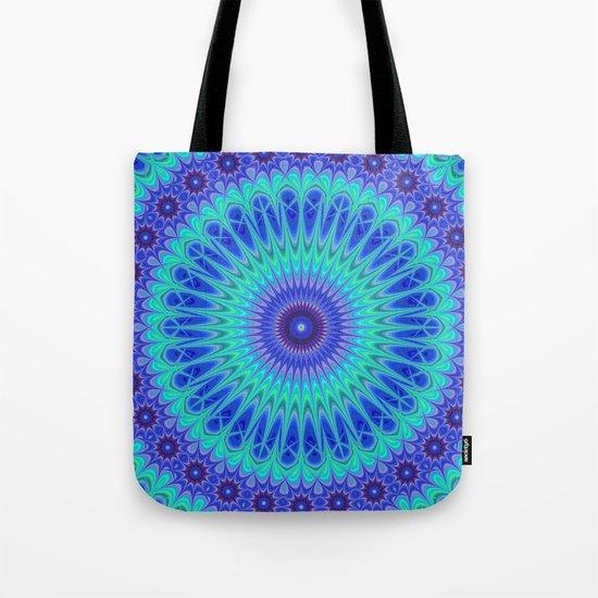 Blue mandala Tote Bag