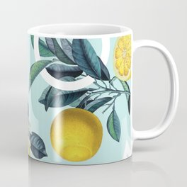 Geometric and Lemon pattern III Coffee Mug
