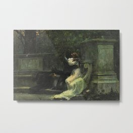 Classical masterpiece: The Kiss by Lionello Balestrieri Metal Print