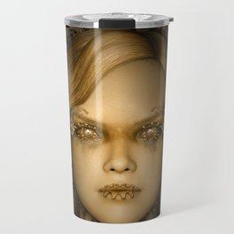 Steampunk female machine Travel Mug