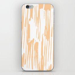 Modern Coral Stripes IV iPhone Skin