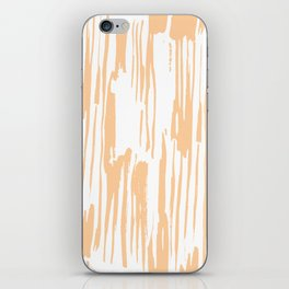 Modern Coral Stripes IV iPhone Skin
