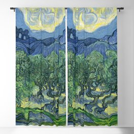The Olive Trees by Vincent van Gogh Blackout Curtain