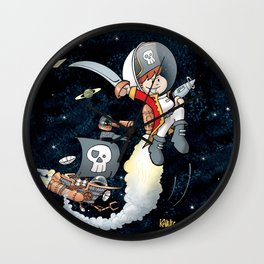Space Pirate Gilly Wall Clock