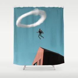Smoke Ring Shower Curtain