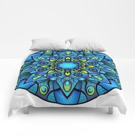 Vivid Blues Mandala Comforters