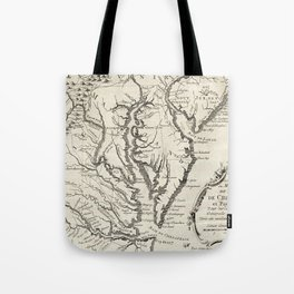 Vintage Map of The Chesapeake Bay (1780) Tote Bag