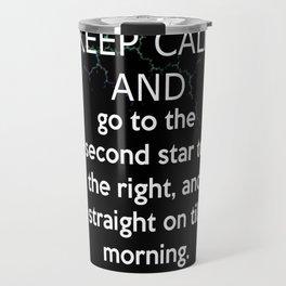 Keep Calm and Carry On: Peter Pan Travel Mug