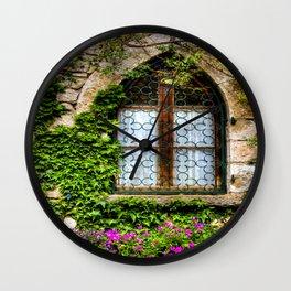 Crawling Vine Eze Village Wall Clock
