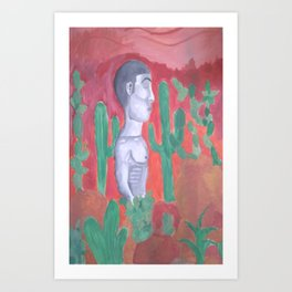 Cactus Field Art Print