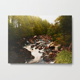Scottish Waterfall Metal Print