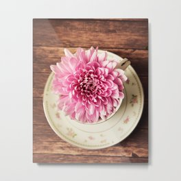 Mums and Saucer Metal Print