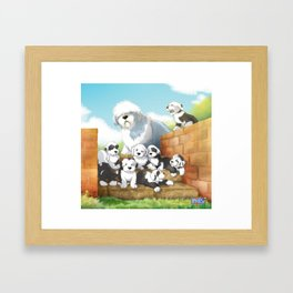oes puppies Framed Art Print
