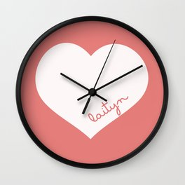 Custom Name Nursery Pillow Wall Clock