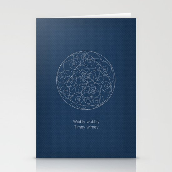 Doctor Who Wibbly Wobbly Stationery Cards By Sof Andrade