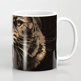 Vintage Tiger in black Coffee Mug