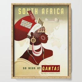 Vintage poster - South Africa Serving Tray