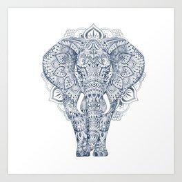 AZTEC HAND DRAWING ELEPHANT Art Print