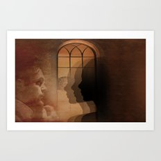 Theatre of shadows Art Print