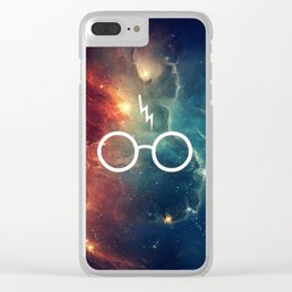 Lightning Scar Nebula HP Clear iPhone Case