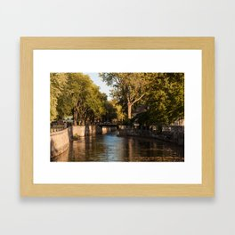 Lachine Canal Trees Framed Art Print