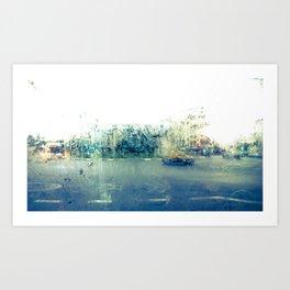 A través del cristal (color version) Art Print