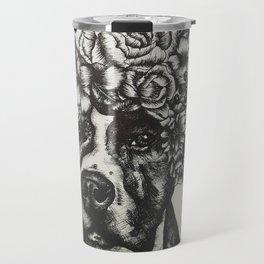 Flower Pup Travel Mug