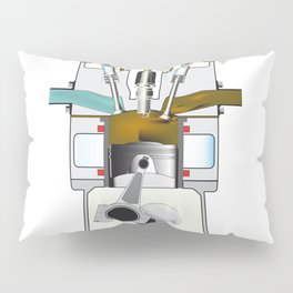 Exhaust Stroke Pillow Sham