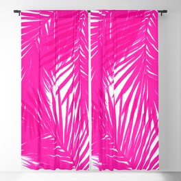 Palms Fuchsia Blackout Curtain