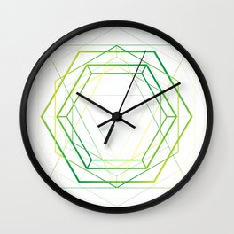 Vegan Geometry Wall Clock