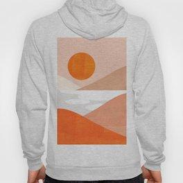 Abstraction_SUNSET_LAKE_Mountains_Minimalism_001 Hoody