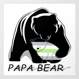 Papa Bear Agender Art Print