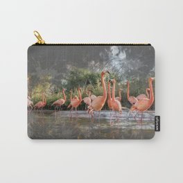Flamingos on the lake Carry-All Pouch
