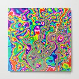 Warped Rainbow Metal Print
