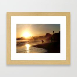 Walking Into the Sun Framed Art Print