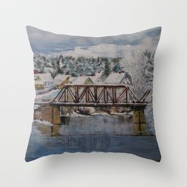 Cold & Snowy Throw Pillow