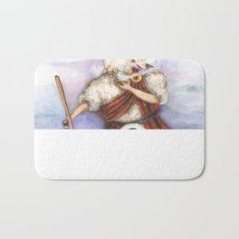 Scottish Smoking Sheep  Bath Mat