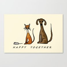 Happy Together - Domestic Canvas Print