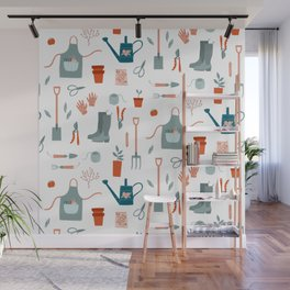Gardening Things Wall Mural